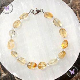 Citrine & Clear Quartz Bracelet